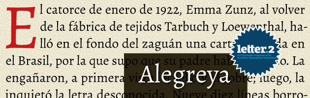 Alegreya (fuentes de Google)